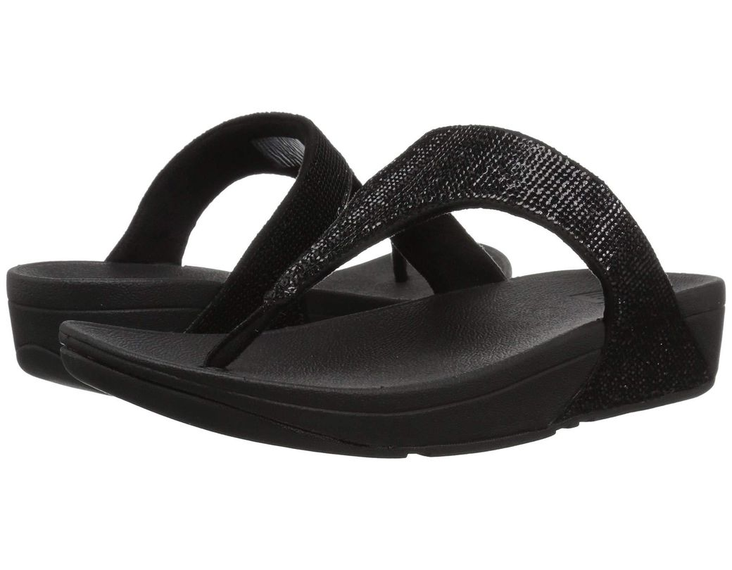 a120fd1ae Lyst - Fitflop Electra Micro Toe-post Flip-flop in Black - Save 35%