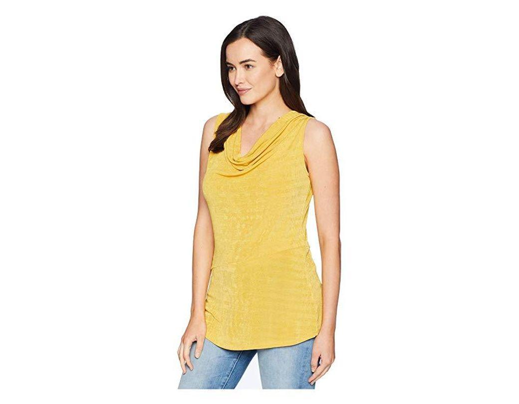 f8c40dd0e1c92f Ellen Tracy Sleeveless Top With Asymmetrical Hem (citrine) Clothing in  Yellow - Save 18% - Lyst