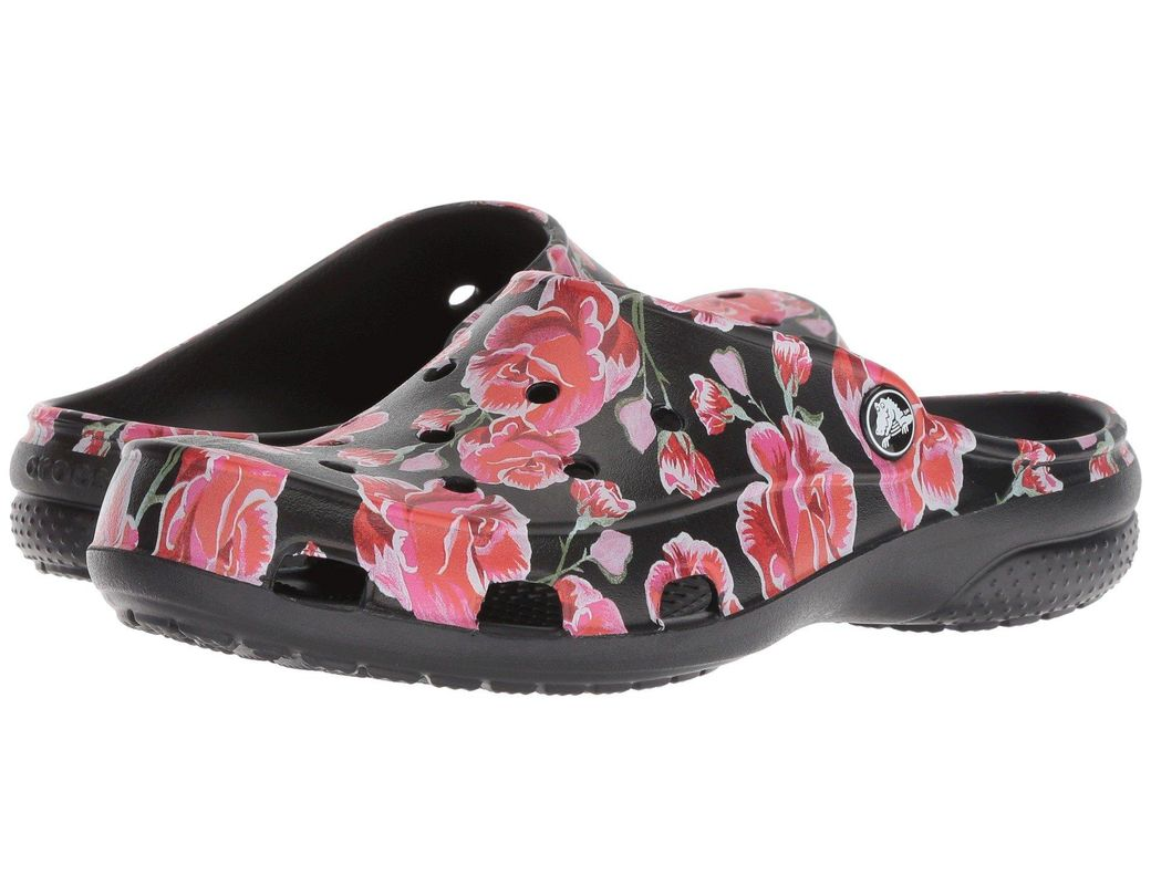 76de07aa7 Lyst - Crocs™ Freesail Graphic Clog in Black - Save 37%