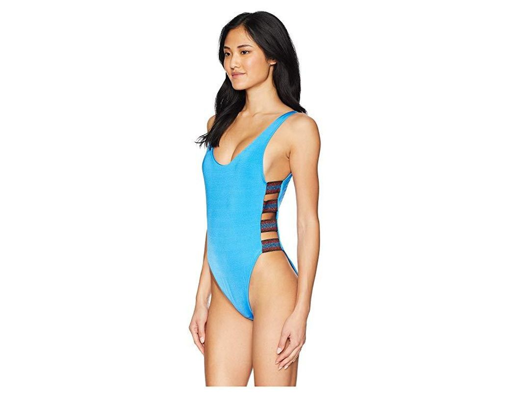 11e64e7ab1f The Bikini Lab Route 66 Strappy One-piece Swimsuit (azul) Swimsuits One  Piece in Blue - Save 11% - Lyst