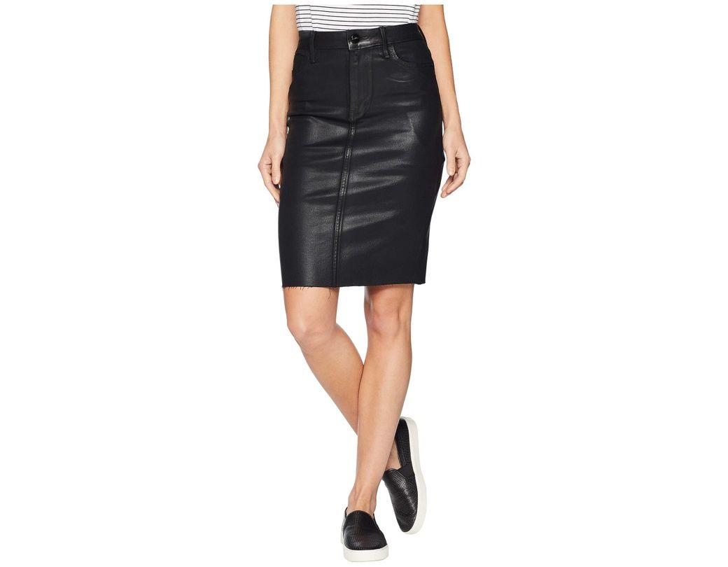 58154bb6d Lyst - Sam Edelman Riley Coated Denim Skirt in Black - Save 51%