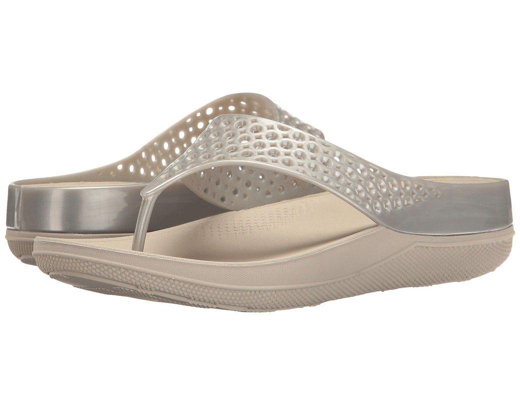 39490d0893c9 Fitflop. Women s Metallic Ringer Welljelly Flip Flops Open-toe Sandals  Silver