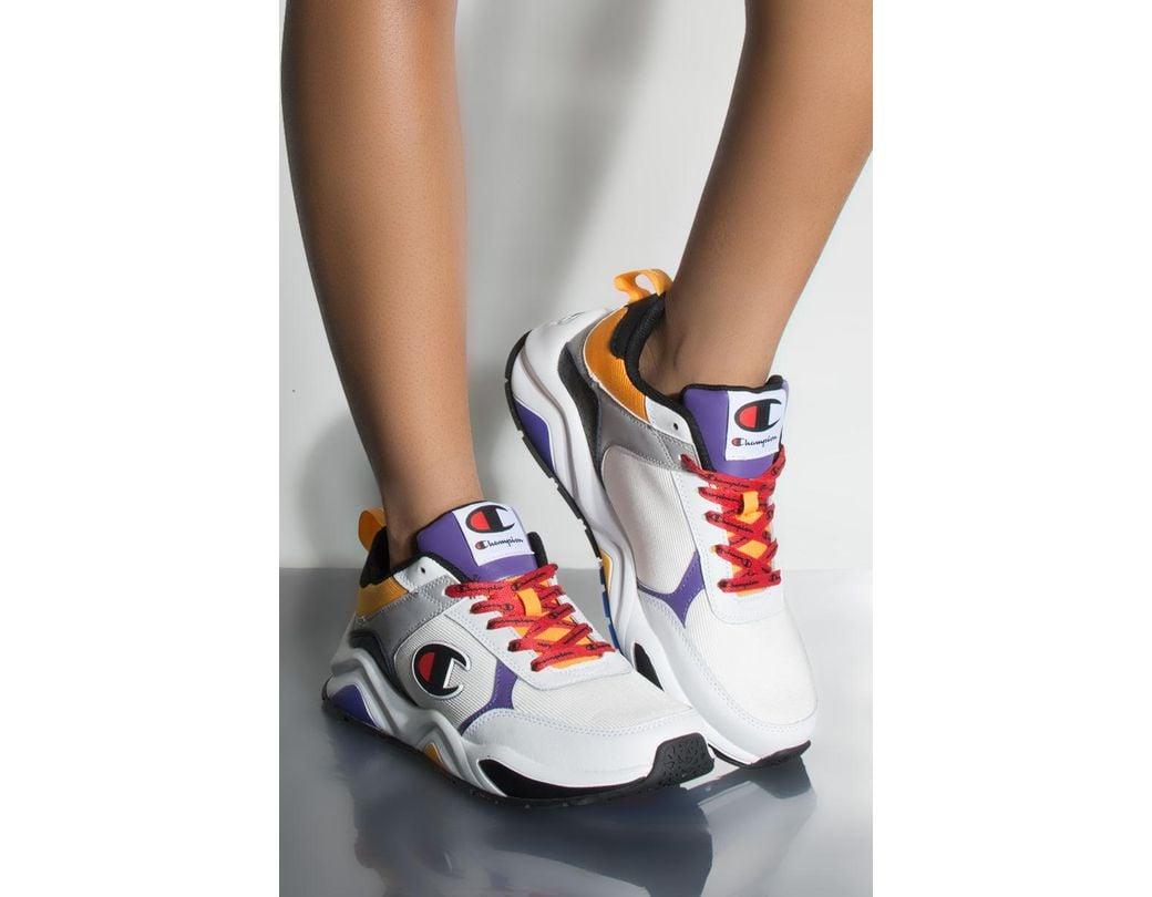 64f57829f91b9 Champion 93 Eighteen Block Sneaker In White Multi in White - Save 33 ...