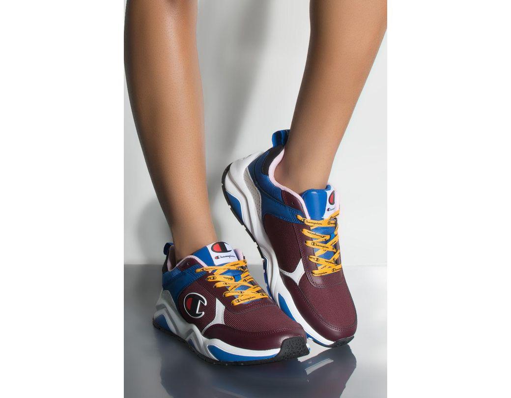2a2e316d64f Lyst - Champion 93 Eighteen Block Sneaker In Maroon Multi in Blue ...