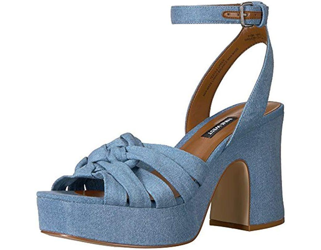 bc50a0978c301 Women's Blue Fetuchini Denim Heeled Sandal