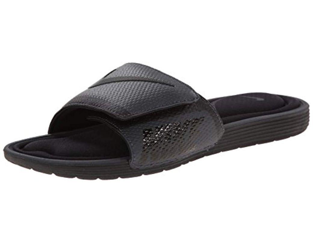 aacf8700ac5f Lyst - Nike Solarsoft Comfort Slide Sandal in Black for Men - Save 17%