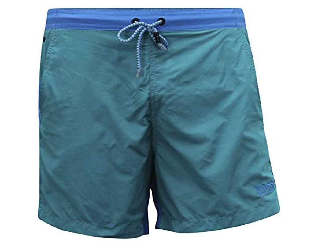 e88c0cc8ea Lyst - BOSS Snapper Swim Trunk in Blue for Men - Save 30%