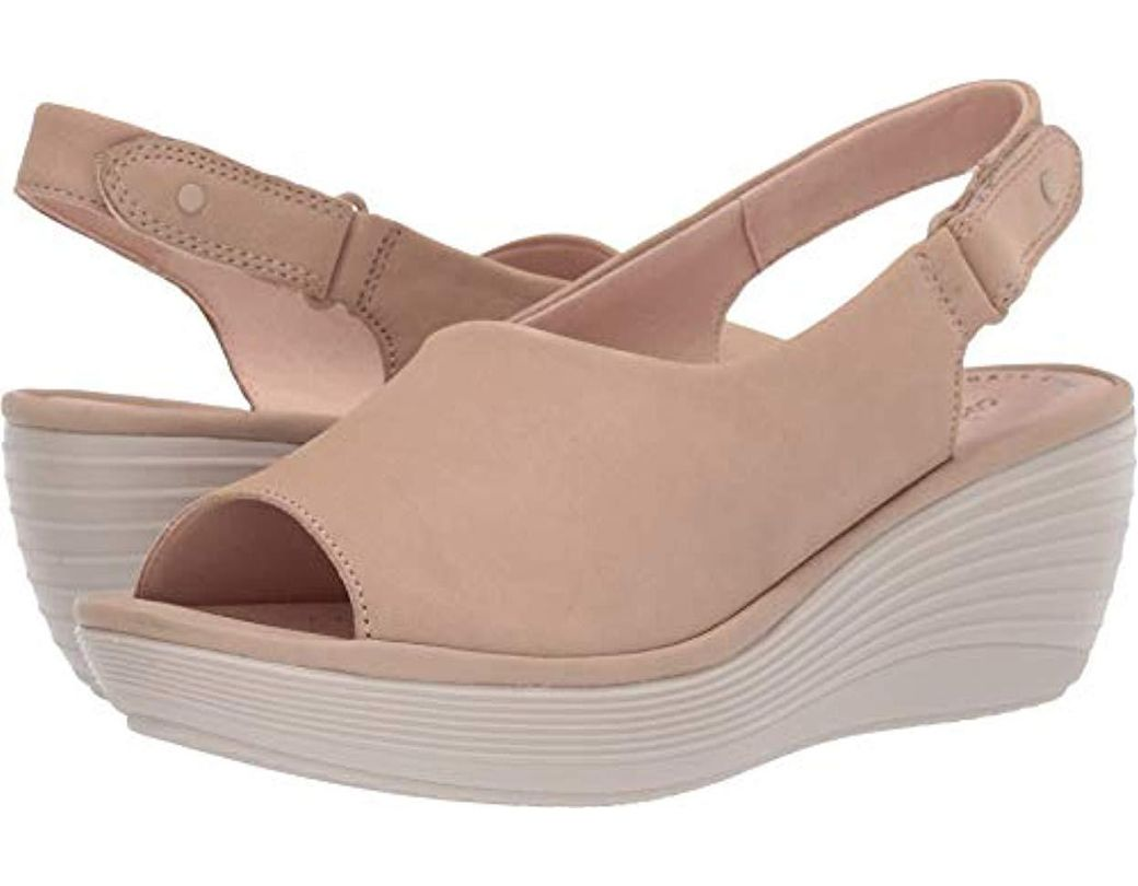 fc47a4e3c238 Lyst - Clarks Reedly Shaina Wedge Sandal in Natural