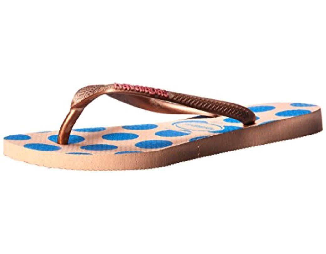 9877a4a45 Lyst - Havaianas Slim Retro Flip Flop Sandal in Blue - Save 27%