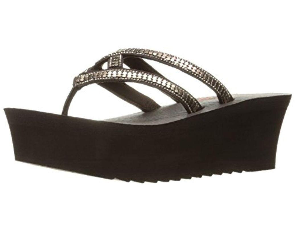 d0a897e8d910 Lyst - Skechers Cali Banda Platform Sandal in Brown - Save 11%