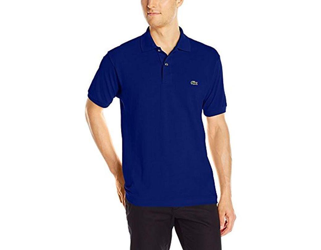 12 Pique Polo Short Sleeve L Classic Shirt Men's Blue 12 H9eD2WIEY