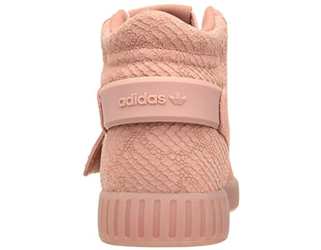 info for 627d9 e4c65 Lyst - adidas Originals Tubular Invader Strap Fashion Running Shoe in Pink  - Save 56%