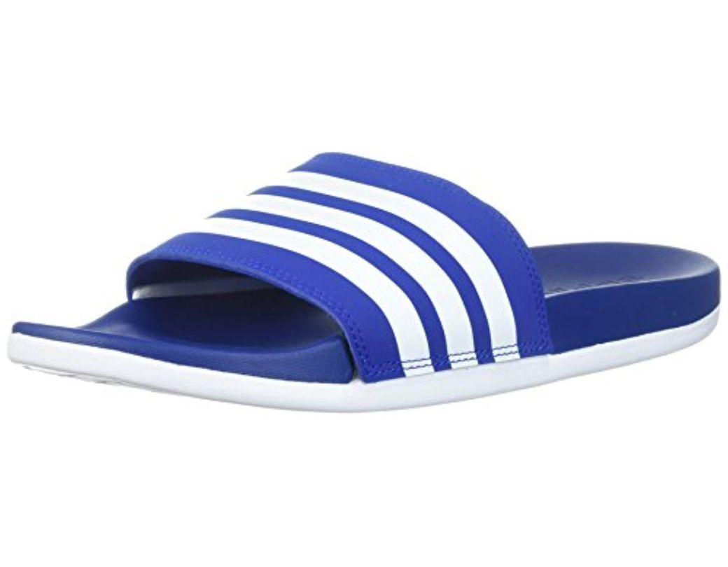 9015594d7 Lyst - adidas Adilette Comfort Slide Sandal in Blue for Men