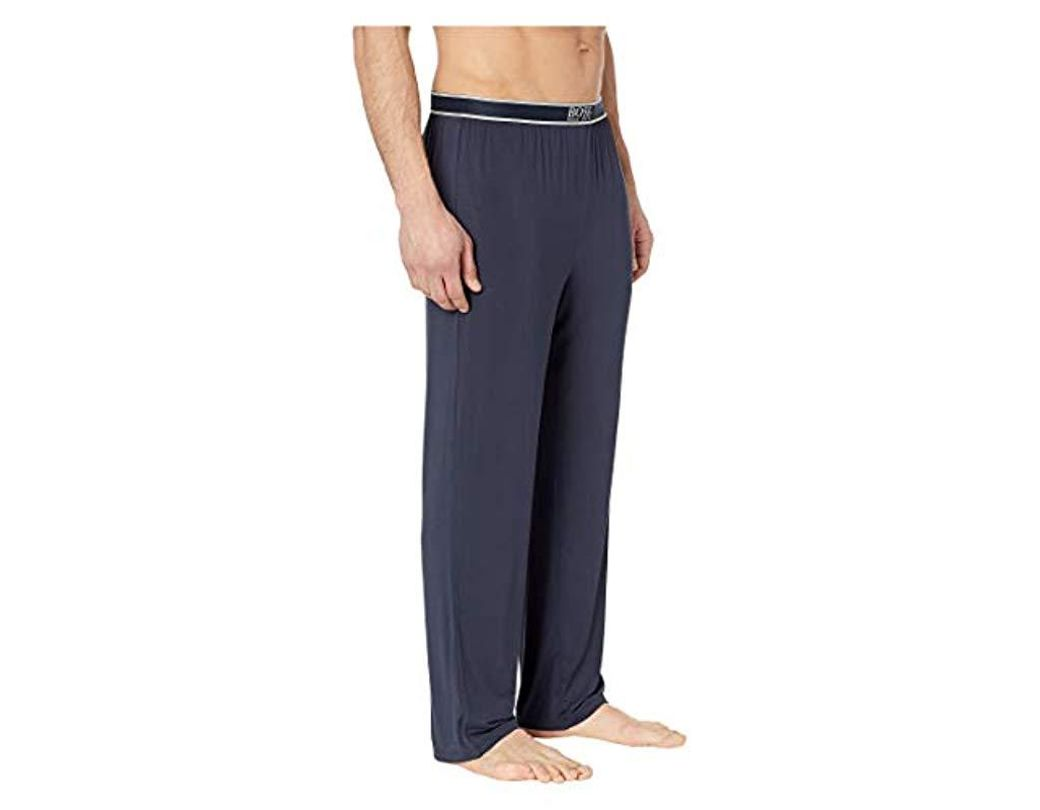 ce01dd4a1 BOSS Micromodal Lounge Pant in Blue for Men - Lyst