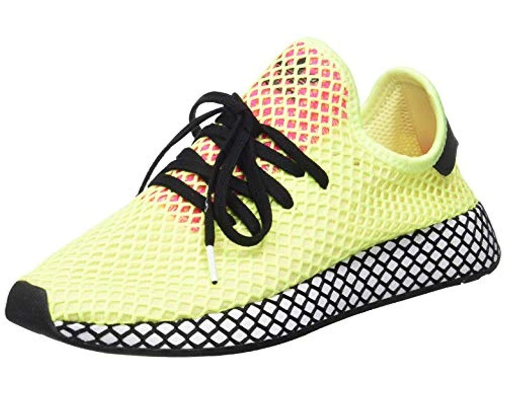 449d1150932a7 adidas 's Deerupt Runner Gymnastics Shoes in Yellow for Men - Lyst