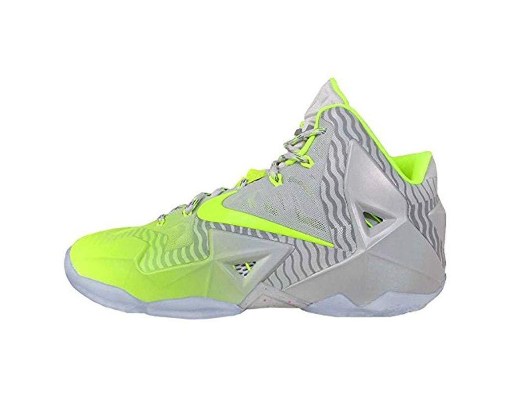 online store 7cdba 4ab06 Men's Lebron Xi Collection 'maison Du Lebron' 32520 Luster & Volt Sport  Trainer Shoes