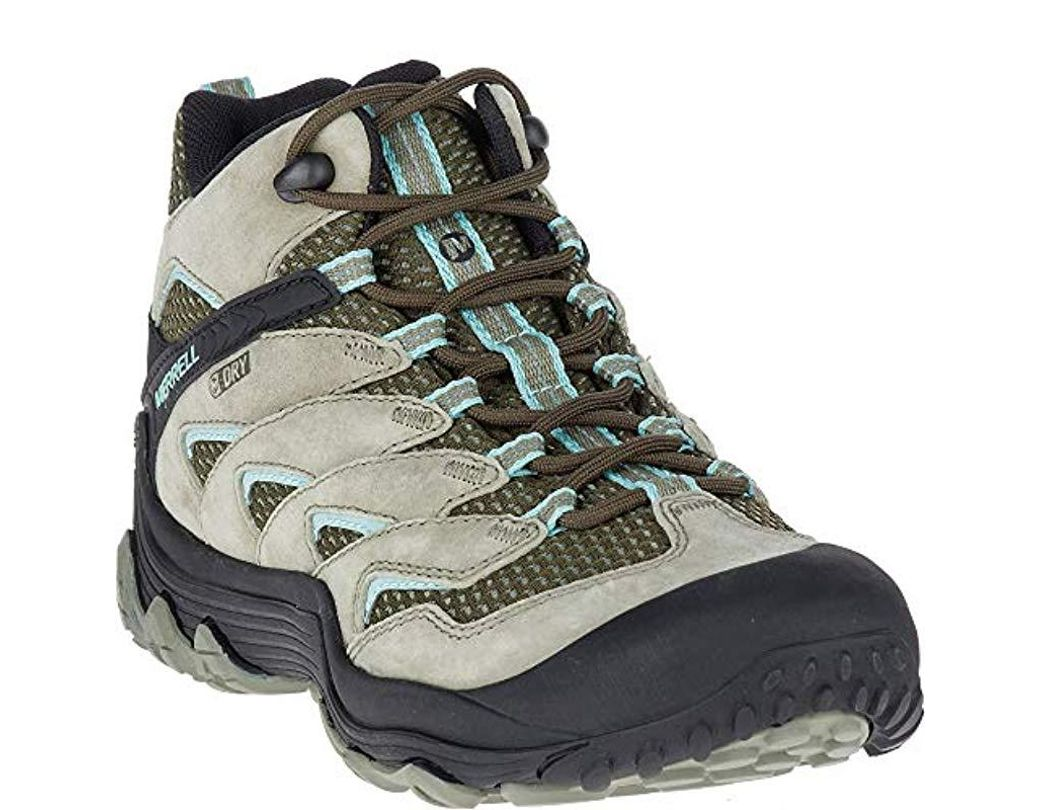 4957c810a3 Merrell Chameleon 7 Limit Mid Waterproof Hiking Boot in Green for Men - Lyst
