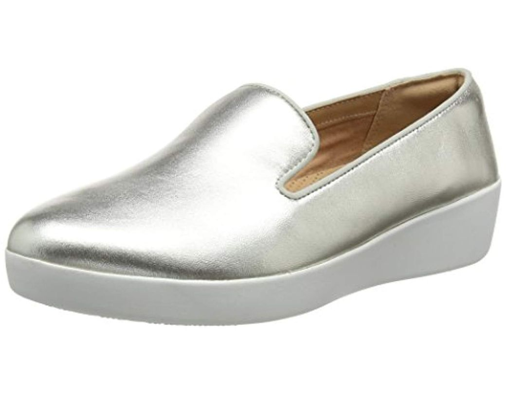 ce41c830683a Fitflop Audrey Metallic Smoking Slippers Loafers in Metallic - Save ...