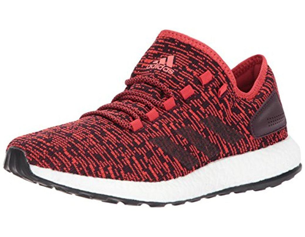 6445da6d1ef00 Lyst - adidas Performance Pureboost Running Shoe in Red for Men ...