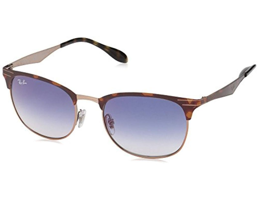 8085fb0f4 Lyst - Ray-Ban 0rb3538 Square Sunglasses Copper On Top Havana 53 Mm ...