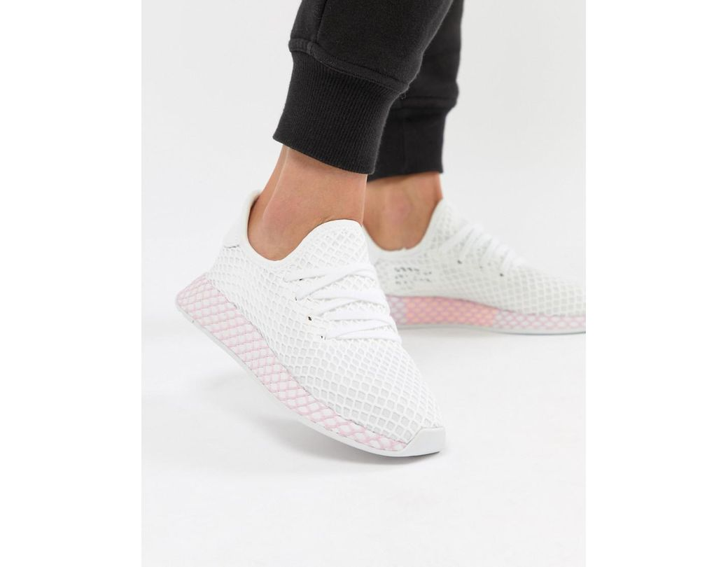 c94660d746b4b Long-Touch to Zoom. Long-Touch to Zoom. 1  2. Adidas Originals - Deerupt  Sneakers In White And Lilac - Lyst ...