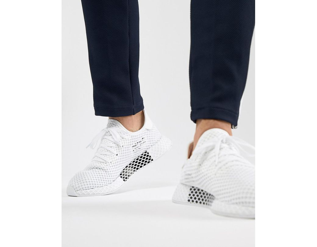 28cab4cb9 Lyst - adidas Originals Deerupt Runner Sneakers In White Cq2625 in ...