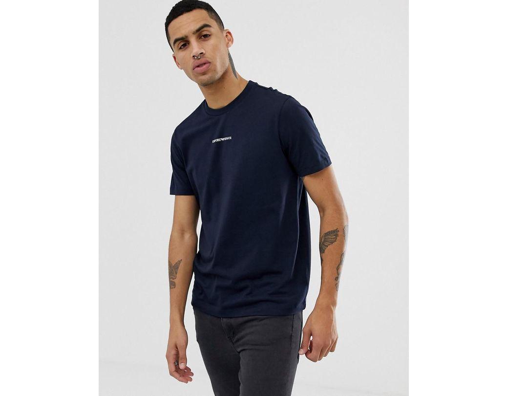 131cb974e5 Men's Blue Small Chest Logo T-shirt In Navy