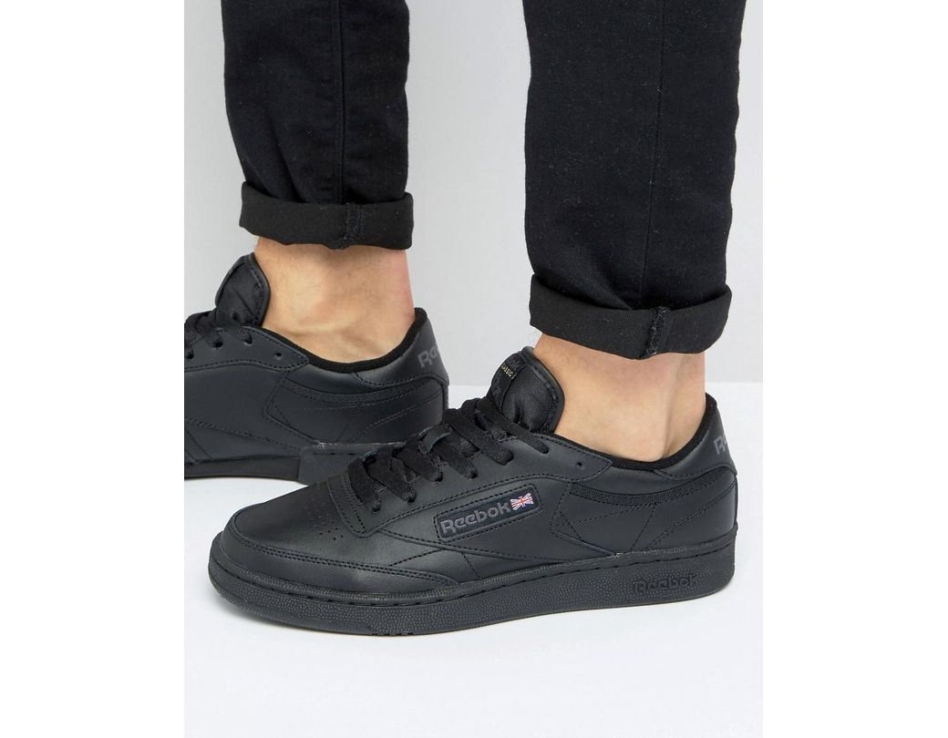 7f89a568f1e Reebok Club C Leather Trainers In Black in Black for Men - Lyst