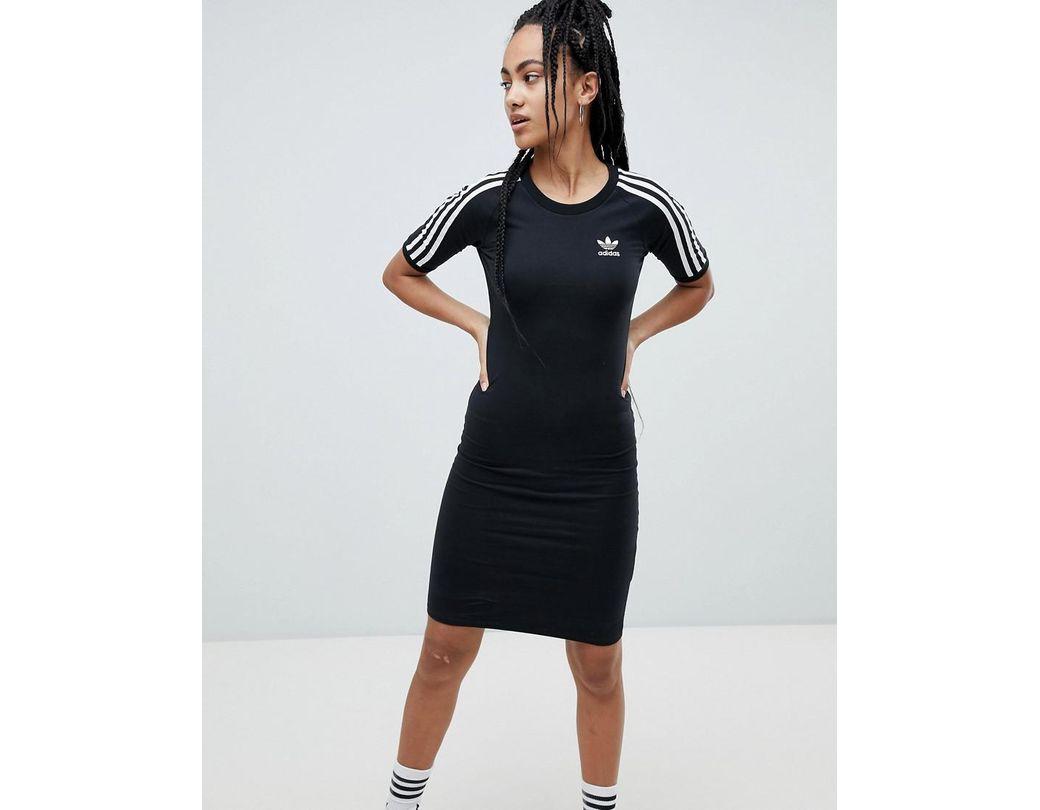 Adidas En Robe Originals Trois Bandes Noir Coloris Lyst dCxoBe
