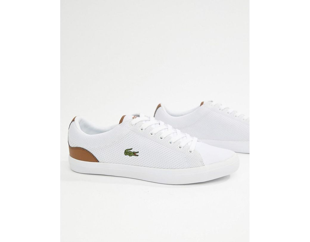 a7ac88ea7 Lacoste Lerond Bl 1 Trainers In White in White for Men - Lyst