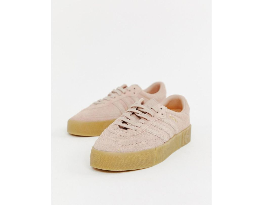 b45612e7ee7eeb adidas Originals. Women s Samba Rose Trainers In Pink With Gum Sole