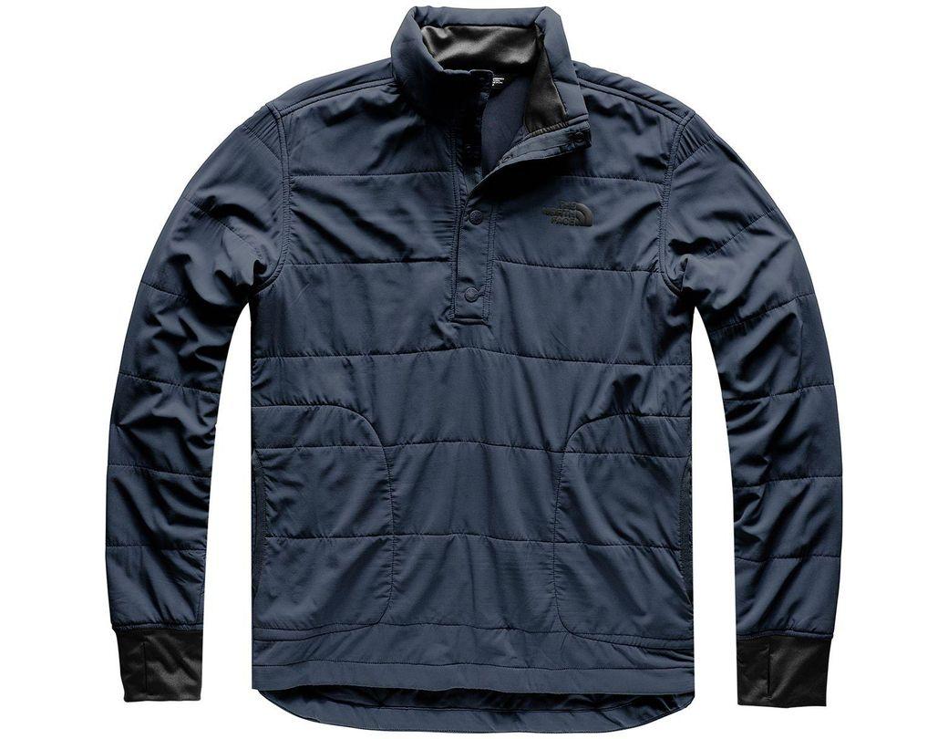 5bb3ec184 Men's Blue Mountain Sweatshirt 1/4 Snap Neck Jacket