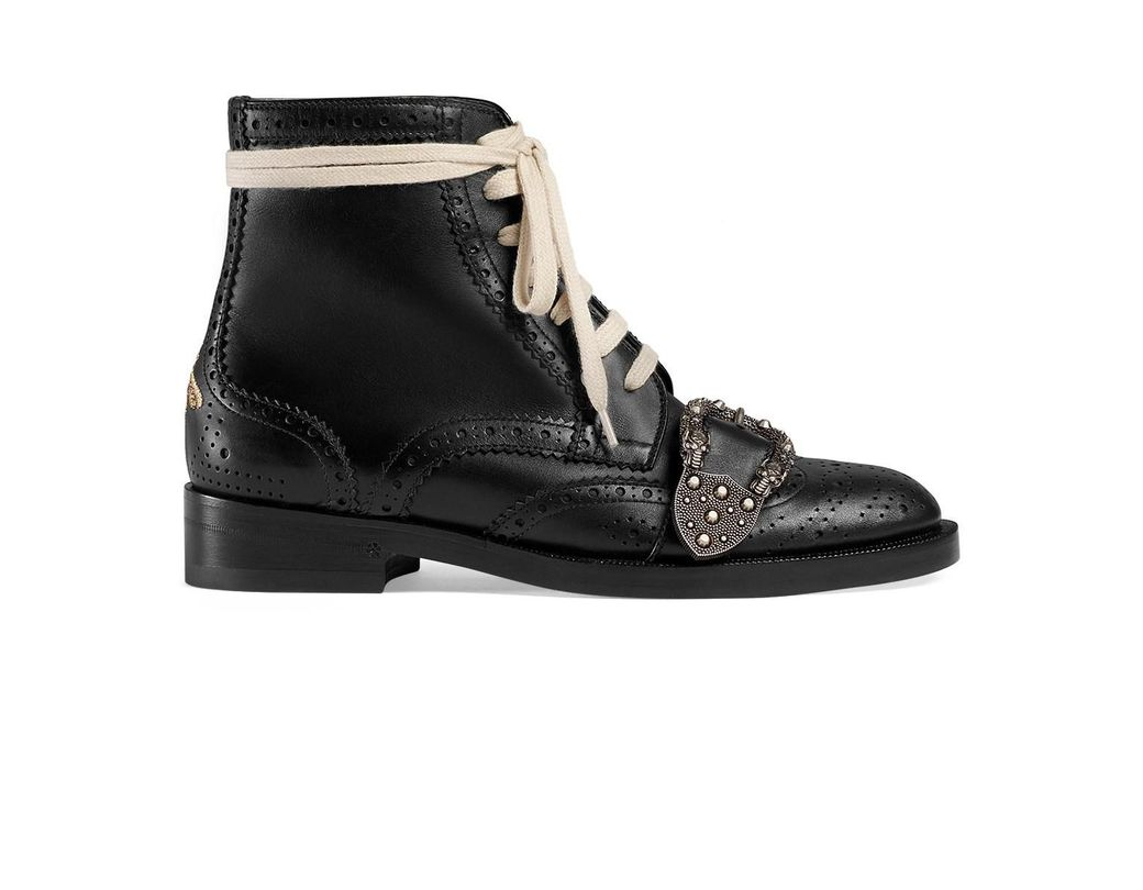 605cb30864b Lyst - Gucci Black Queercore Brogue Boots in Black - Save 50%