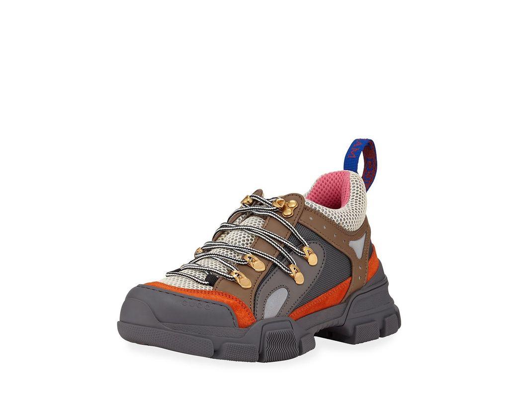 197e8f18f201a Lyst - Gucci Flashtrek Hiker Sneaker in Gray