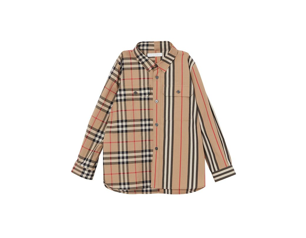f2727a8853 Lyst - Burberry Little Boy's & Boy's Iconic Print Shirt in Natural