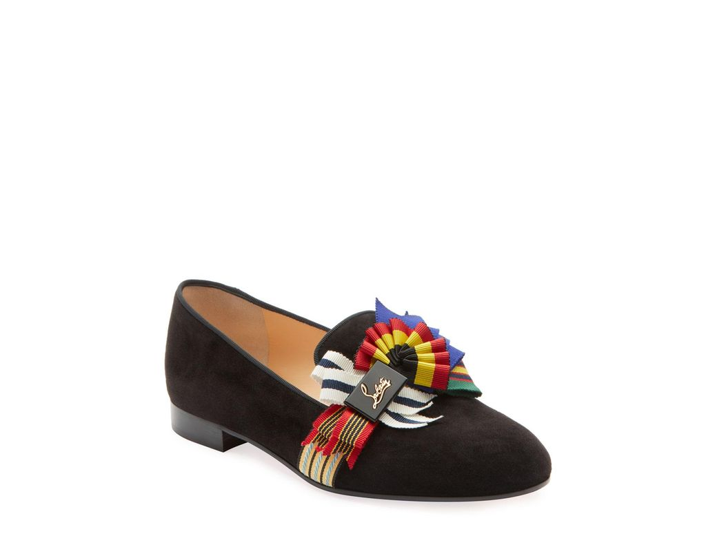 375f7be0a50b Lyst - Christian Louboutin Ascot Girl Red Sole Ballet Flats in Black