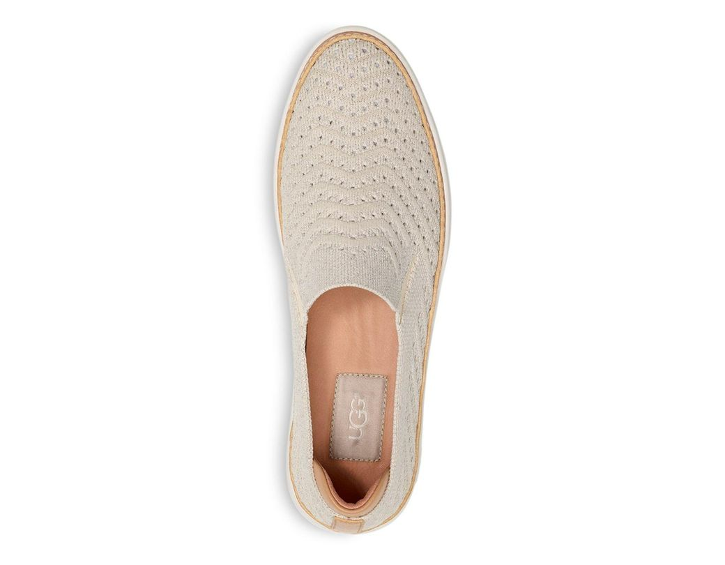 837104b9691 Women's Sammy Chevron Metallic Knit Slip - On Sneakers