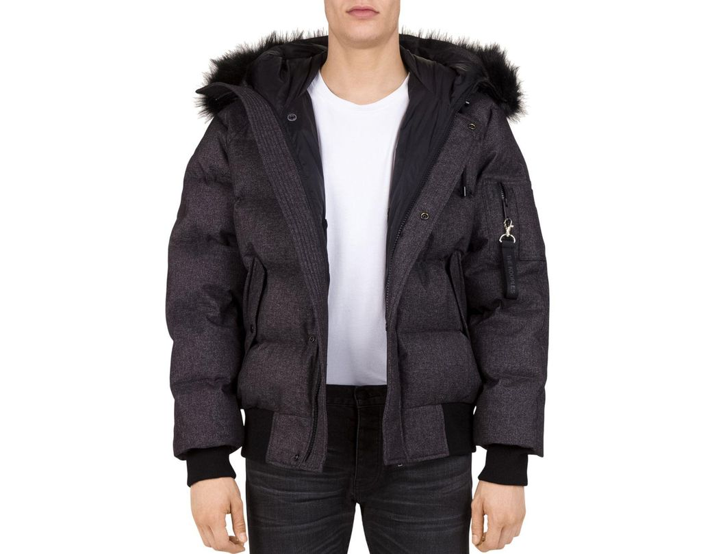 f1b72105bb The Kooples Puffa Hooded Down Jacket in Gray for Men - Lyst