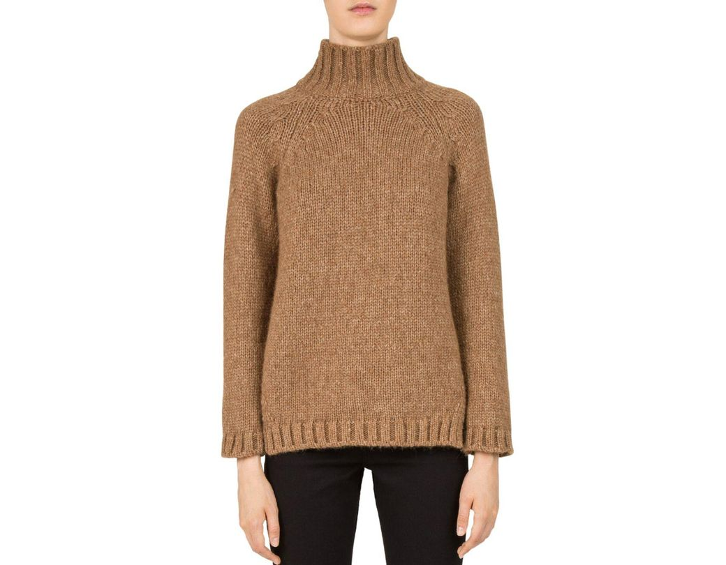 12f106db1 Lyst - Gerard Darel Cameron Mock-neck Sweater in Natural