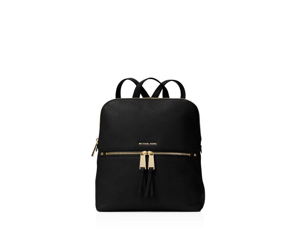 d0c9d266e81b MICHAEL Michael Kors Rhea Medium Slim Backpack in Black - Save 25 ...