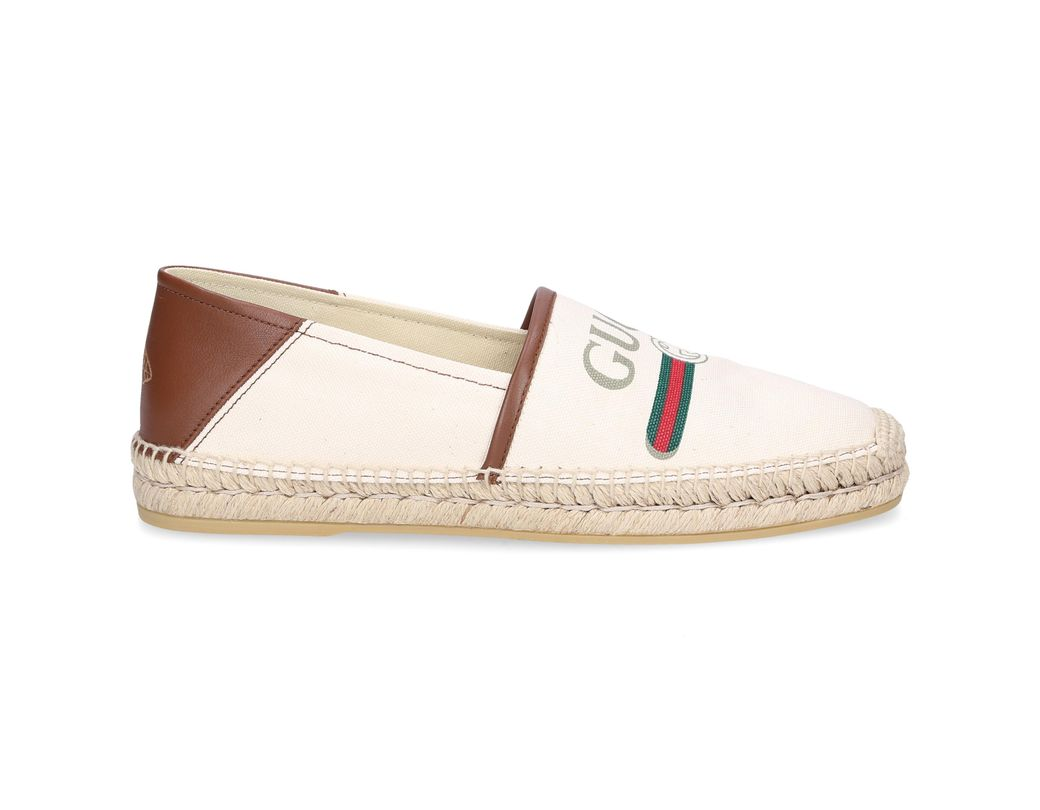 654d5b30889 Lyst - Gucci Alejandro Vintage Logo Canvas Espadrille in White for ...