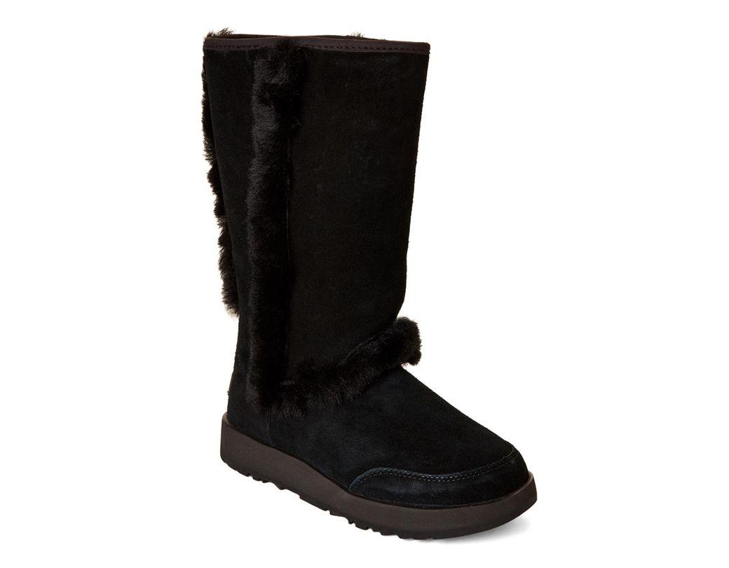 8268a157465 Women's Black Sundance Waterproof Real Fur Boots