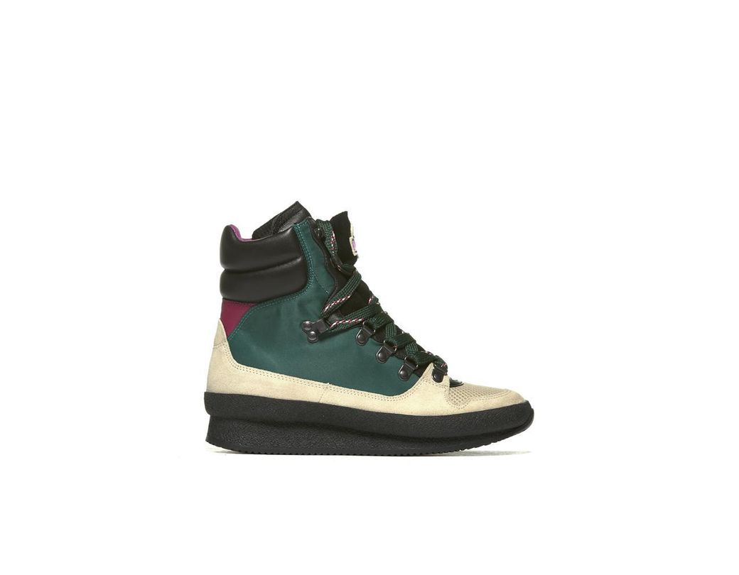 2b468f76a07 Isabel Marant Hi-top Sneakers in Green - Save 29% - Lyst