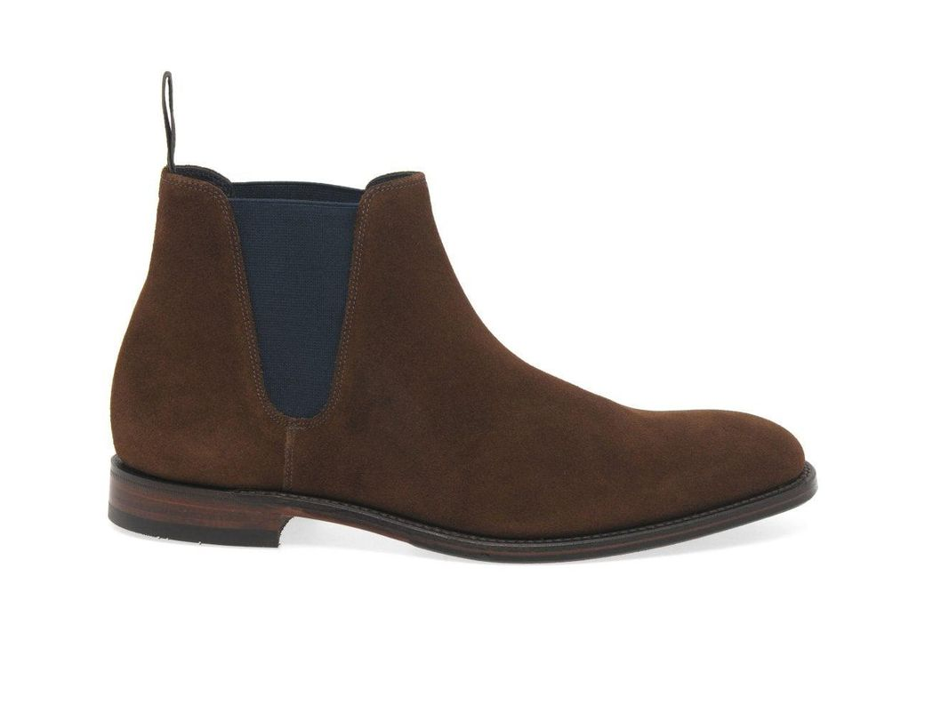 1d415001ccf Brown Caine Mens Suede Chelsea Boots