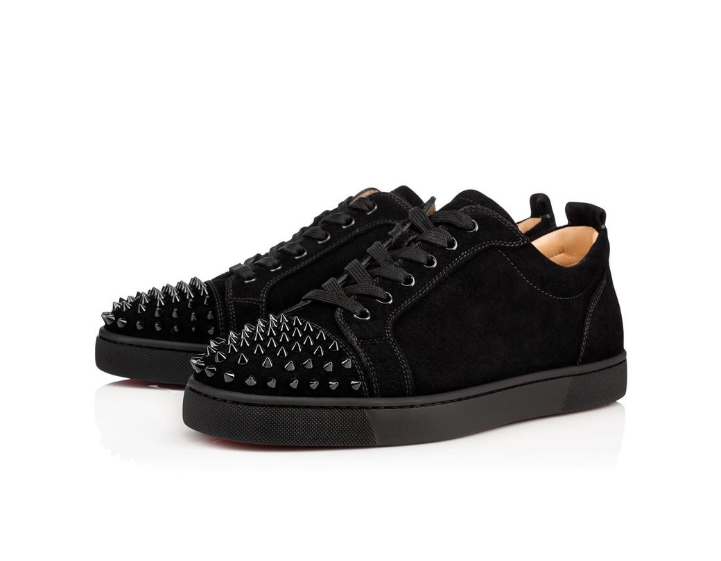 0742186d346f Lyst - Christian Louboutin Louis Junior Spikes Men s Flat in Black ...