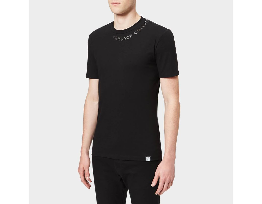 San Francisco fábrica auténtica diseño distintivo Lyst - Versace Collar Logo T-shirt in Black for Men