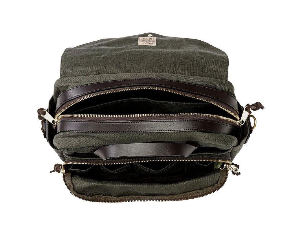 3e8f537c7c80 Men's Black Rugged Twill Padded Computer Bag