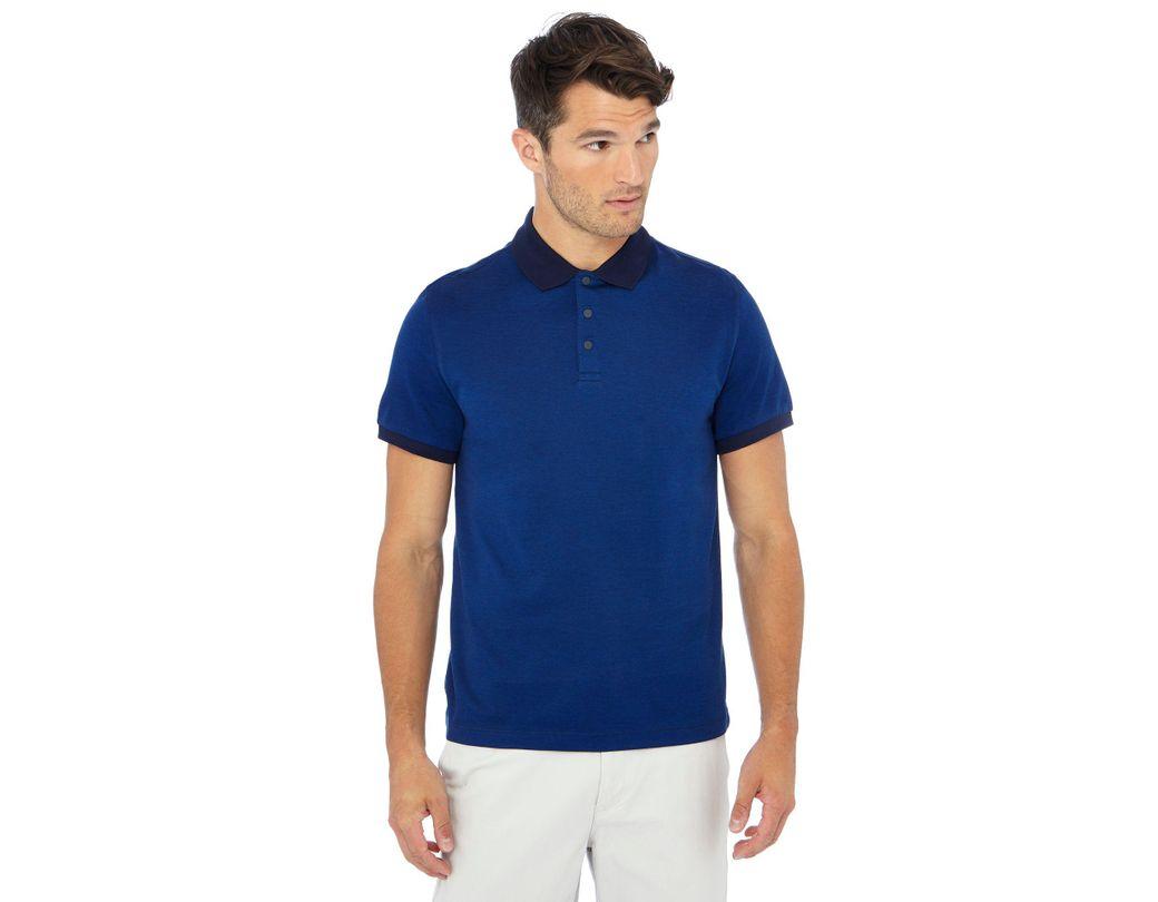 b460f68f524 J By Jasper Conran Big And Tall Royal Blue Contrast Collar Polo Shirt in  Blue for Men - Lyst