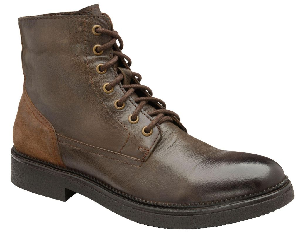 6c01a56dfc0 Frank Wright Brown 'hardy' Leather Lace Up Military Boots in Brown ...