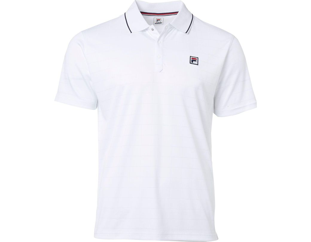 f2c315b0635 Fila Heritage Drop Needle Tennis Polo in White for Men - Lyst